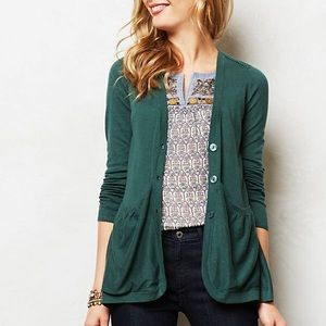 Anthropology Sweep-Front cardigan